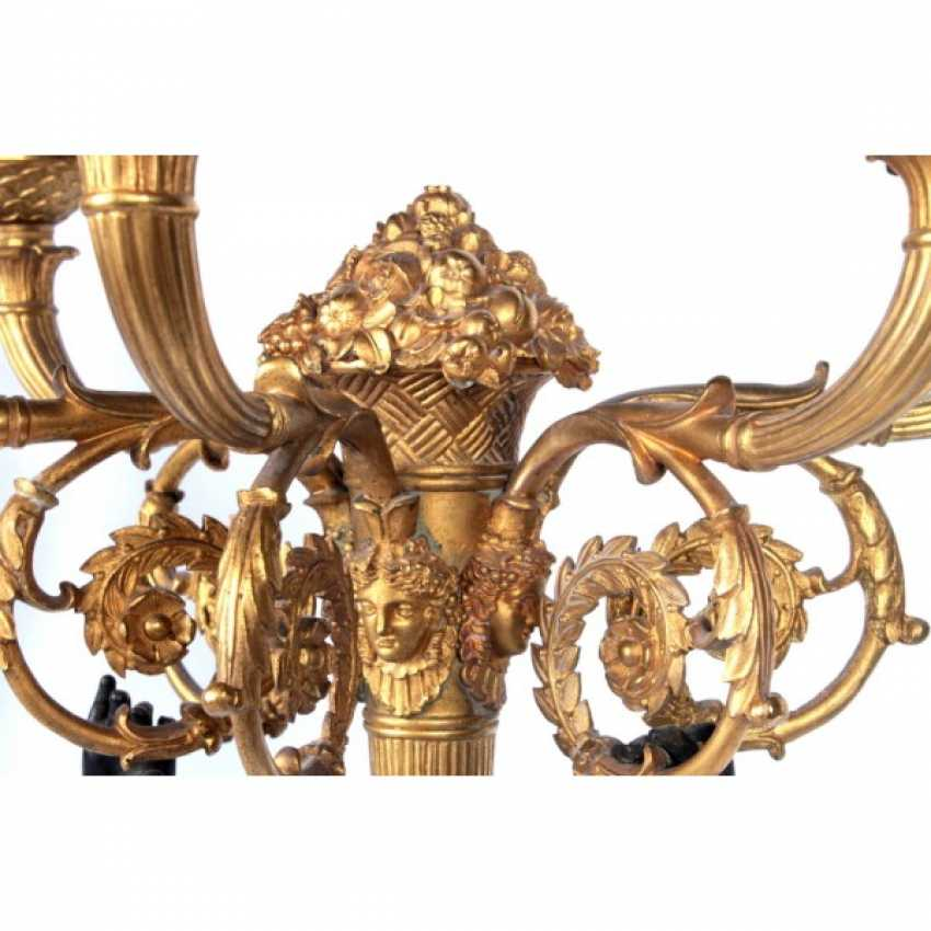 PAIR OF CANDELABRA IN THE FORM OF A FIGURE OF A WINGED GENIUS. - photo 5