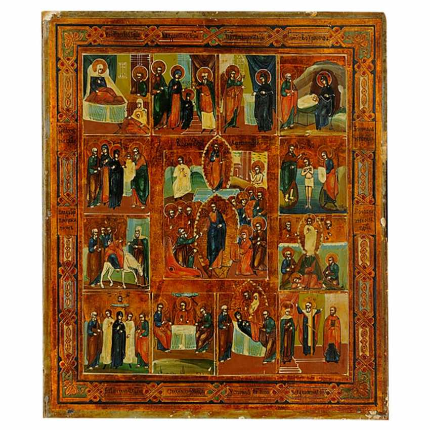 """The icon of the """"Twelve great feasts"""" - photo 1"""