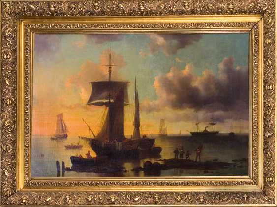 "The painting ""Sunset at sea"" (Pini) - photo 1"