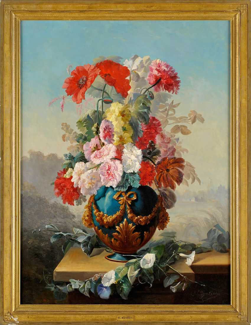 """The painting """"Vase with flowers"""" (Clement Gontier) - photo 1"""