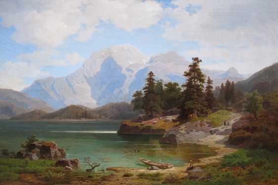 "The picture ""Alpine landscape with a lake"" (Ernst von Raven) - photo 2"