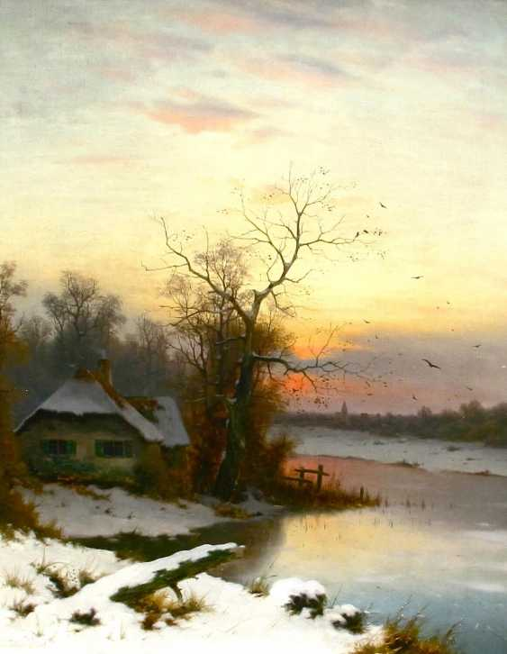 """The painting """"Winter evening"""" (Edward Hine)Painting """"Winter evening"""" (Edward Hine) - photo 1"""