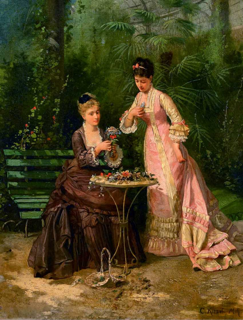 """The painting """"Ladies in the greenhouse"""" (Conrad Chisel) - photo 2"""