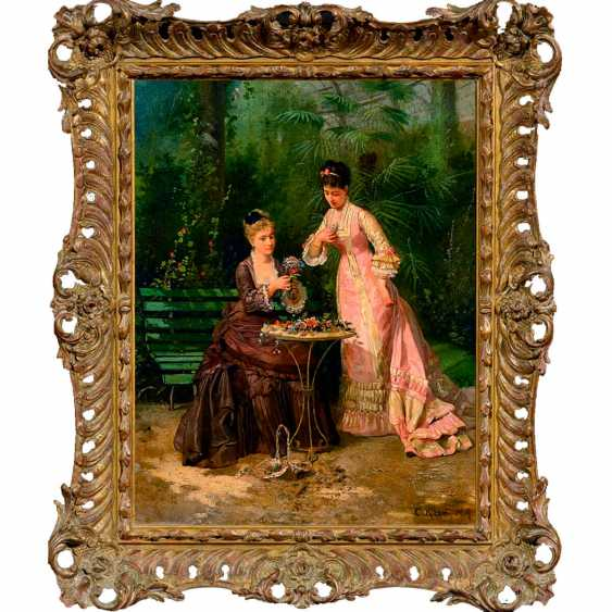 """The painting """"Ladies in the greenhouse"""" (Conrad Chisel) - photo 1"""