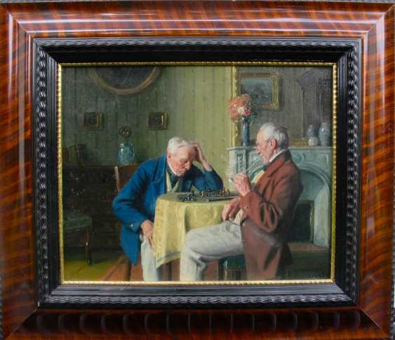 "The painting ""the Chess players"" (Max Barascudts, oil) - photo 1"