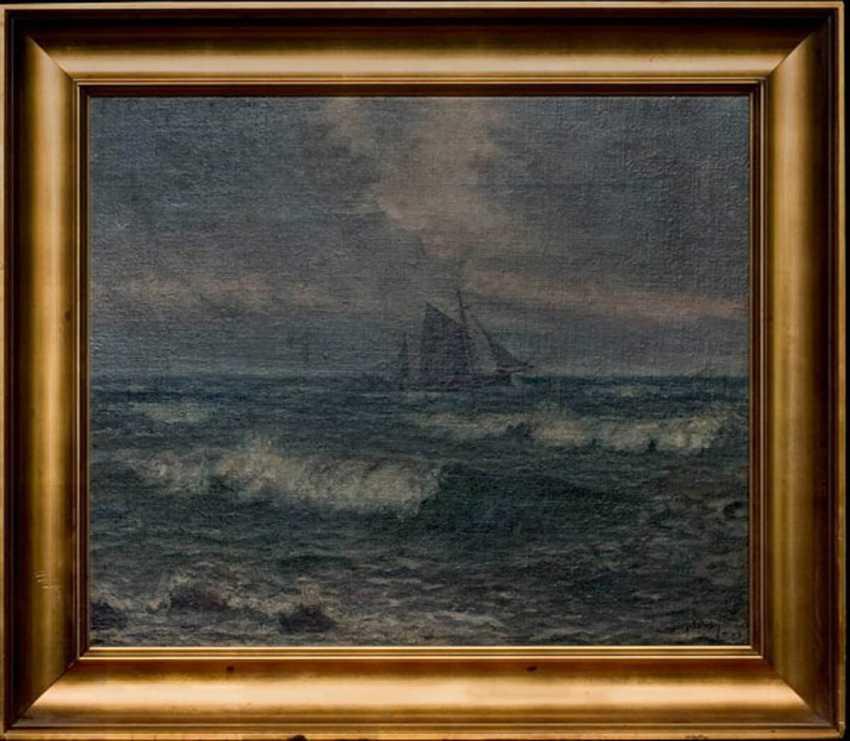"""The painting """"Sailboat at sea"""" (Jans by Ishai) - photo 1"""