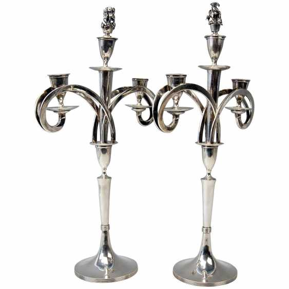 VIENNESE SILVER EMPIRE CANDLESTICKS - PAIR OF DATING 1811 - photo 1