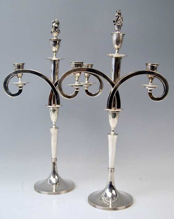 VIENNESE SILVER EMPIRE CANDLESTICKS - PAIR OF DATING 1811 - photo 2