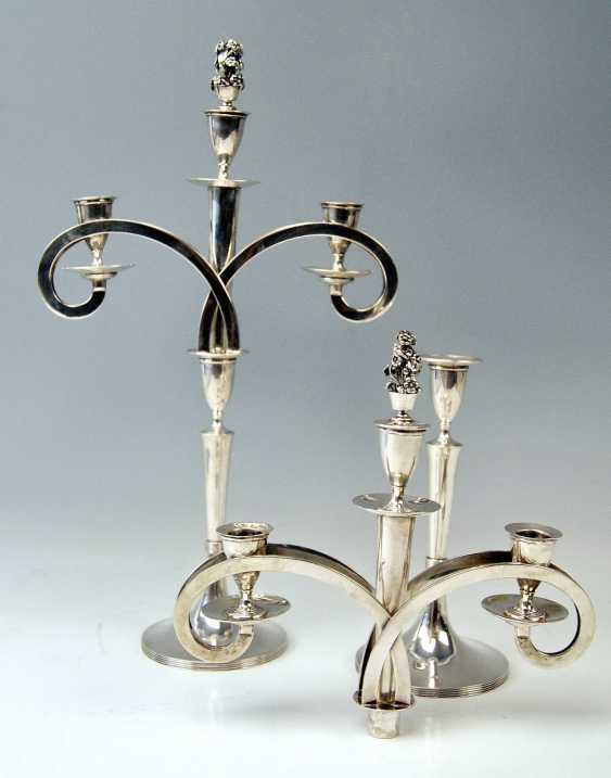 VIENNESE SILVER EMPIRE CANDLESTICKS - PAIR OF DATING 1811 - photo 3