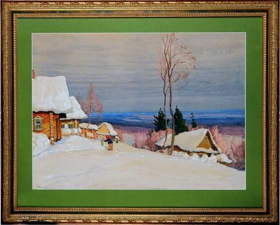 "The painting ""Winter landscape"" (Sokolov V. I.) - photo 1"