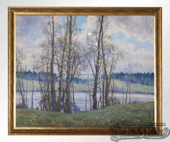 """The painting """"Birches at the river"""" - photo 1"""