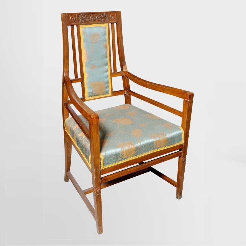 Seating set made of oak (beginning of XX century) - photo 2