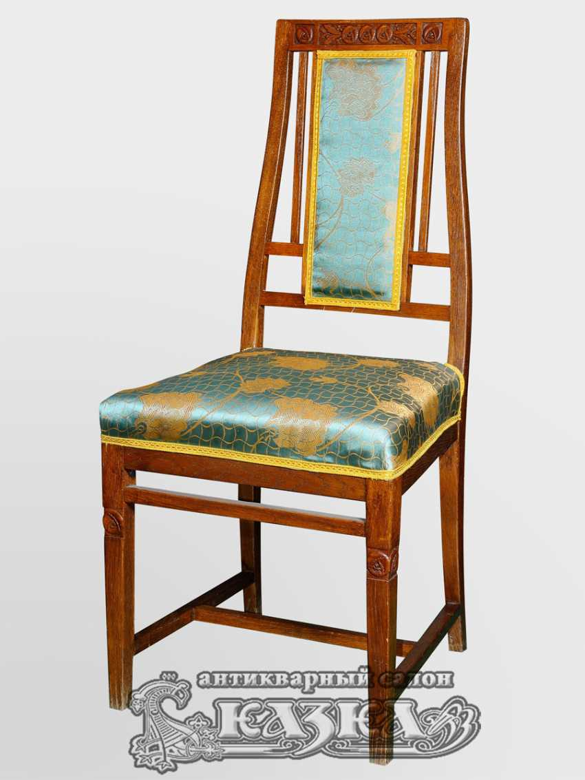 Seating set made of oak (beginning of XX century) - photo 3