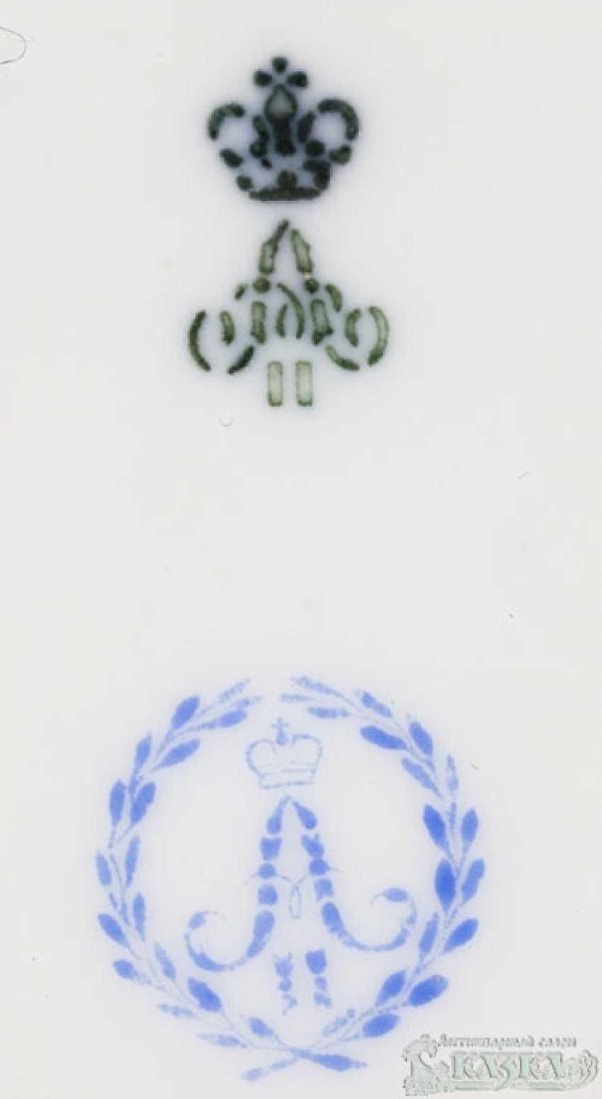 Teller «Spielende Putti» aus Porzellan - Foto 2