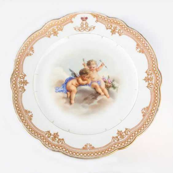 Plaque de jeu «Putti» de la porcelaine - photo 1