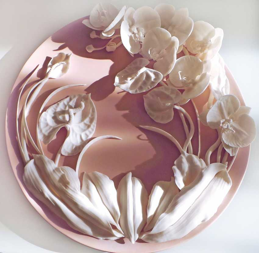 "Dish ""Orchids and anthuriums"" - photo 1"