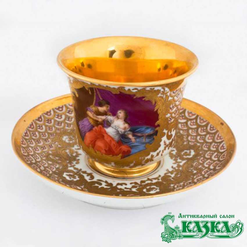A couple of tea (the Gardner Factory, Russia, XIX century) - photo 1