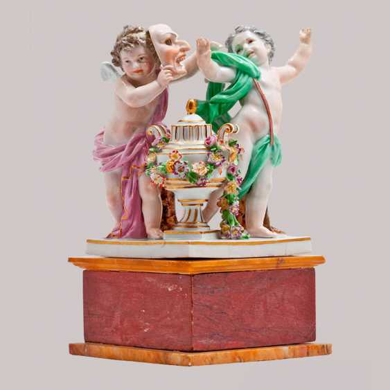 """Figurine """"Angels playing in the theater"""" - photo 1"""