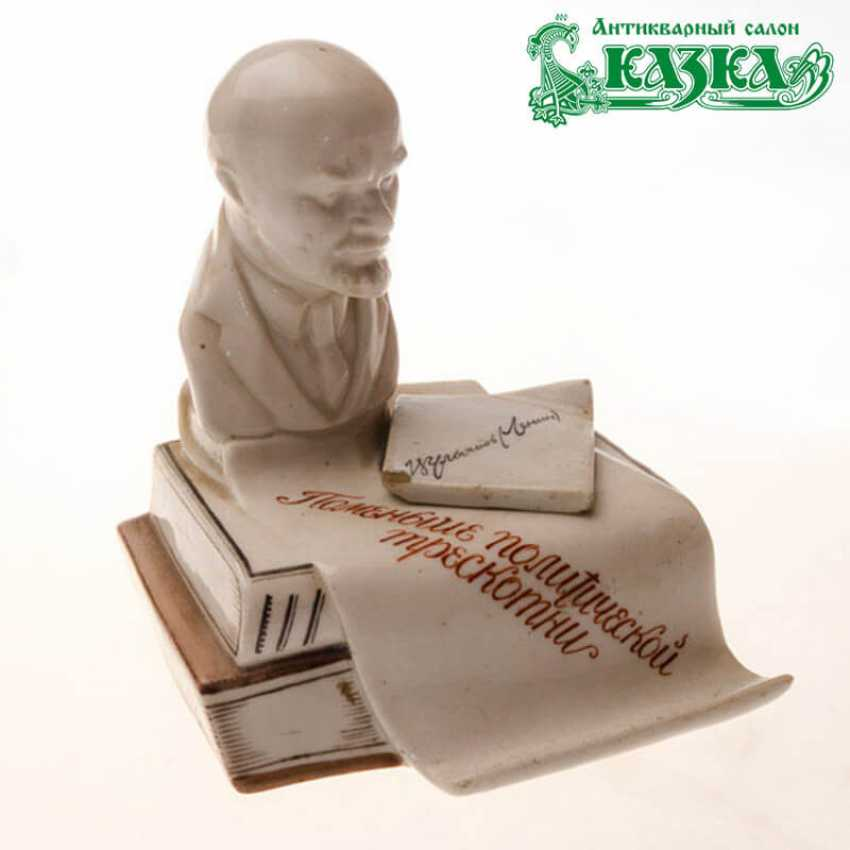 """Inkwell with bust of Lenin """"Less political fireworks"""" - photo 1"""