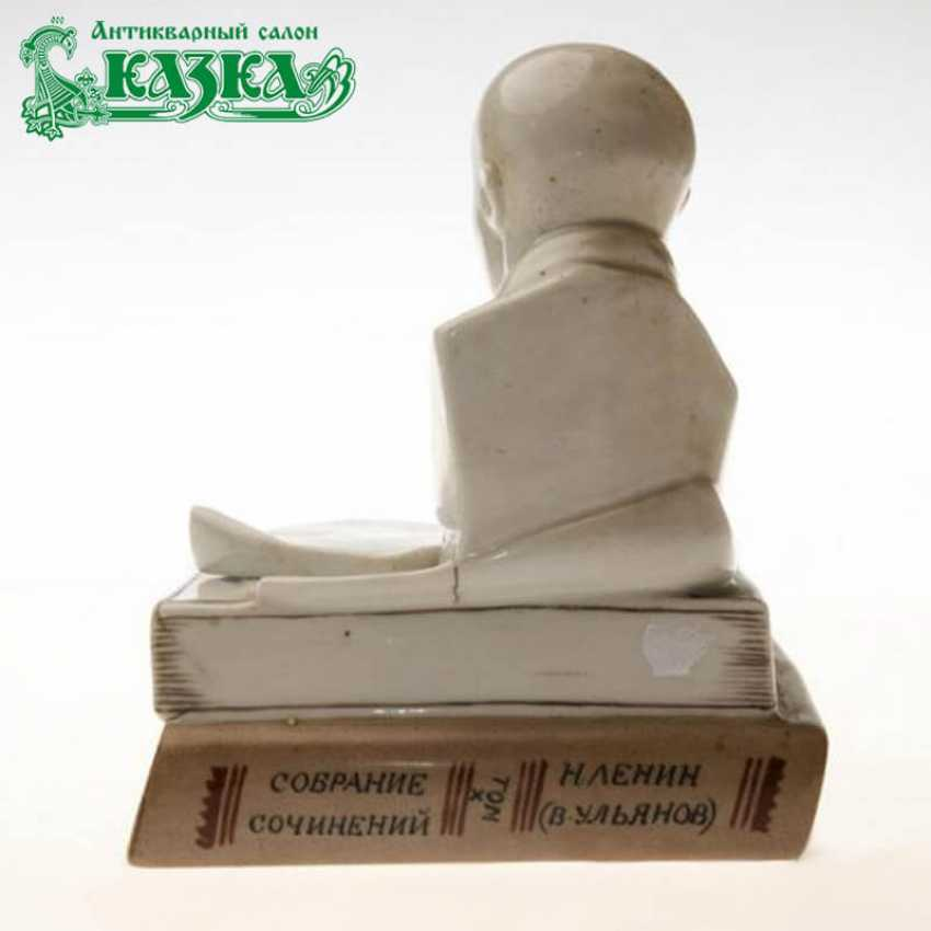 """Inkwell with bust of Lenin """"Less political fireworks"""" - photo 2"""