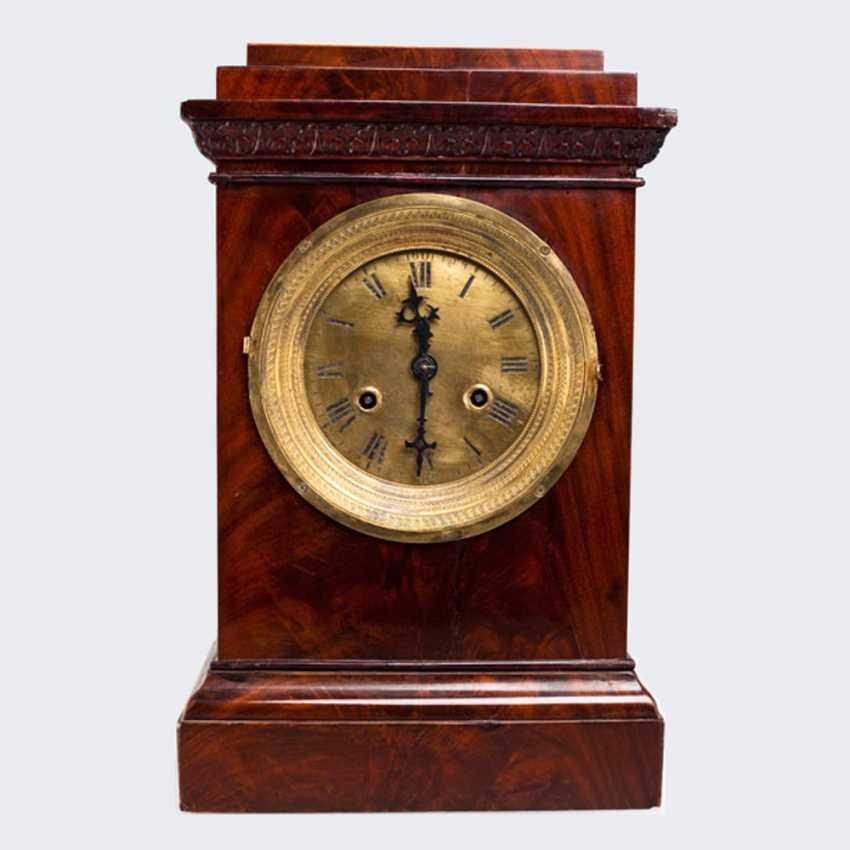 Table clock in mahogany - photo 1
