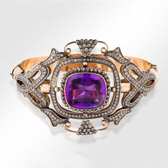 Bracelet with corundum and diamonds - photo 1