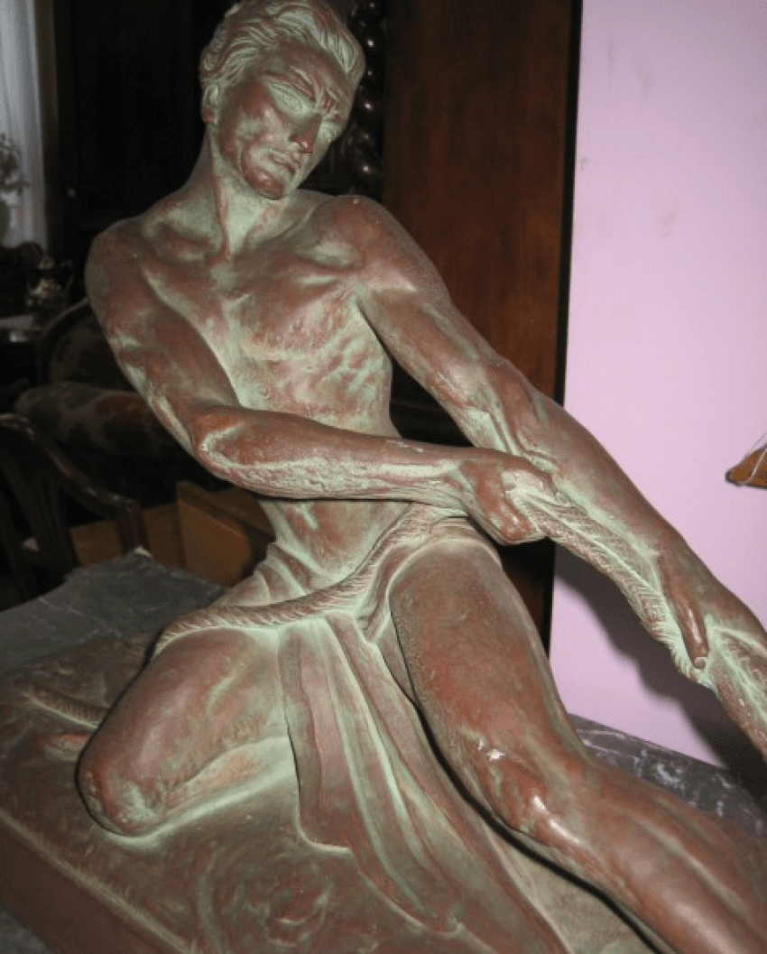 "Vintage sculpture ""Fisherman"" - photo 2"