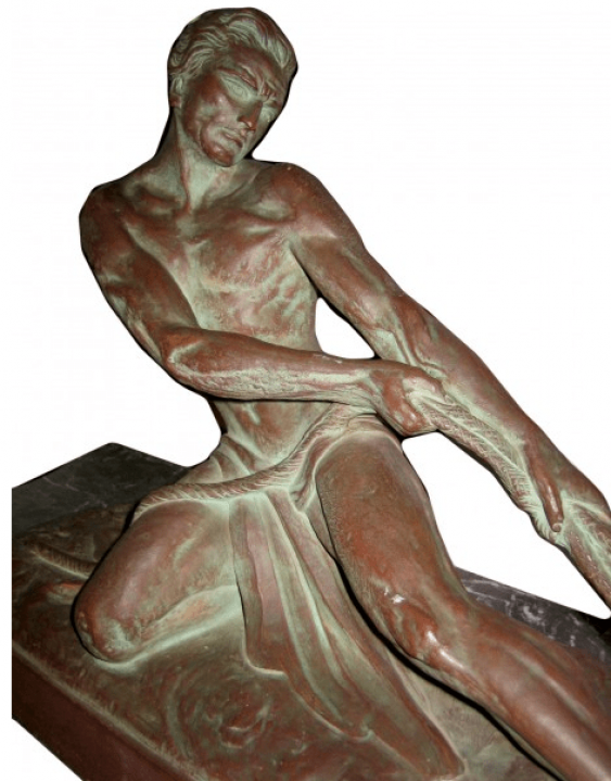 "Vintage sculpture ""Fisherman"" - photo 1"
