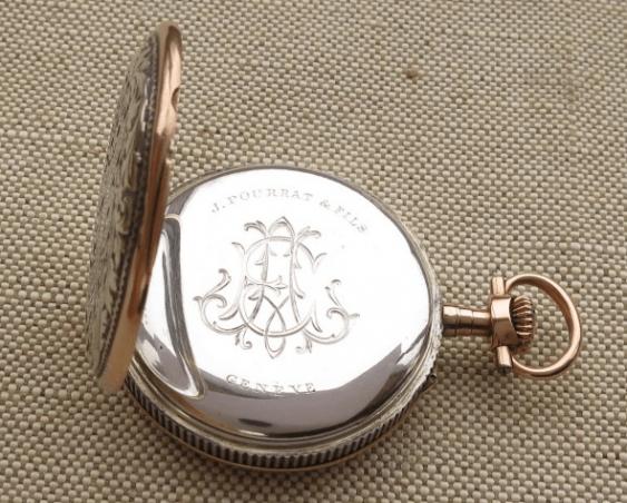 """a pocket watch """"J. POURRAT & FILS"""": - photo 6"""