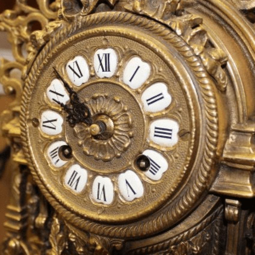 "mantel clock with 2 candelabra ""Phaeton"" - photo 2"