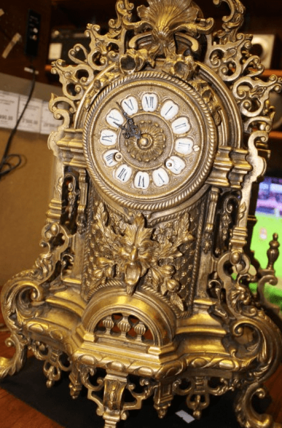 "mantel clock with 2 candelabra ""Phaeton"" - photo 3"