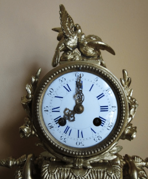 "mantel clock ""bird"" - photo 2"