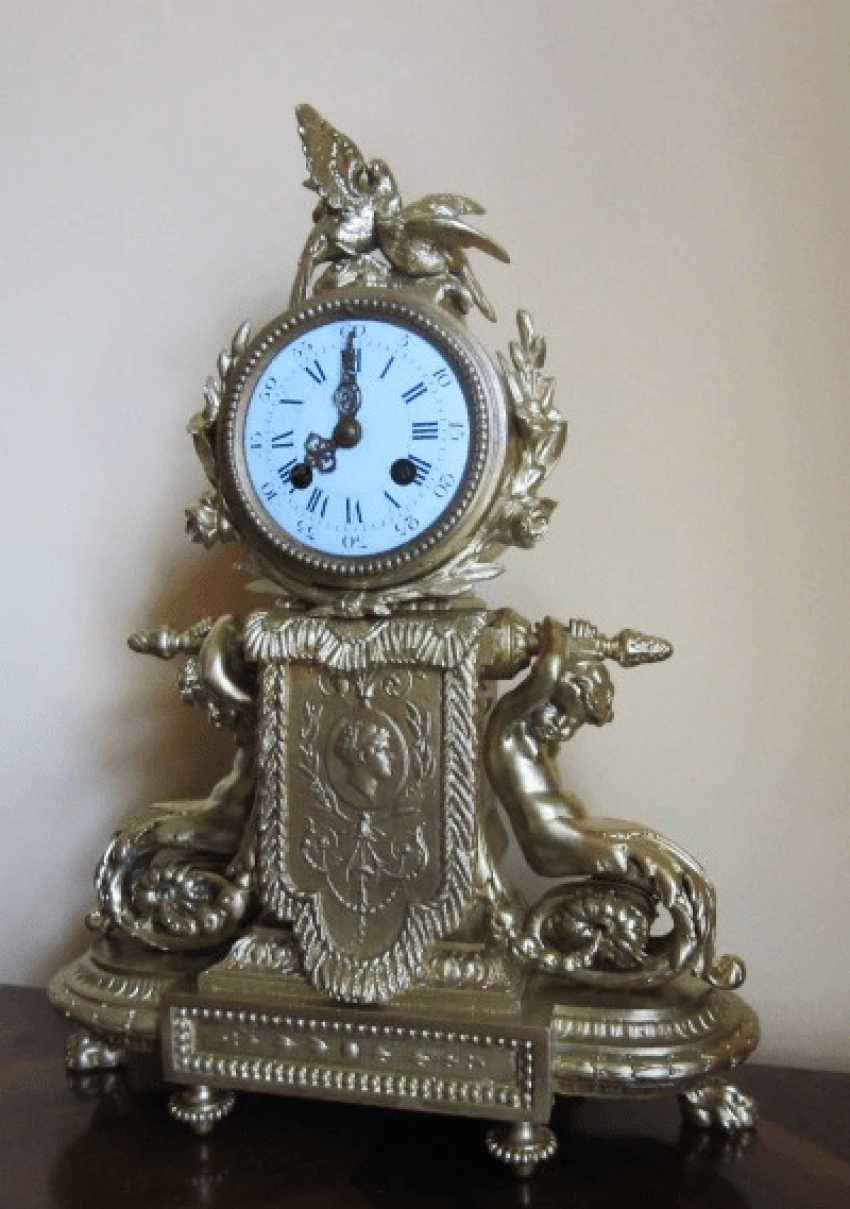 "mantel clock ""bird"" - photo 1"