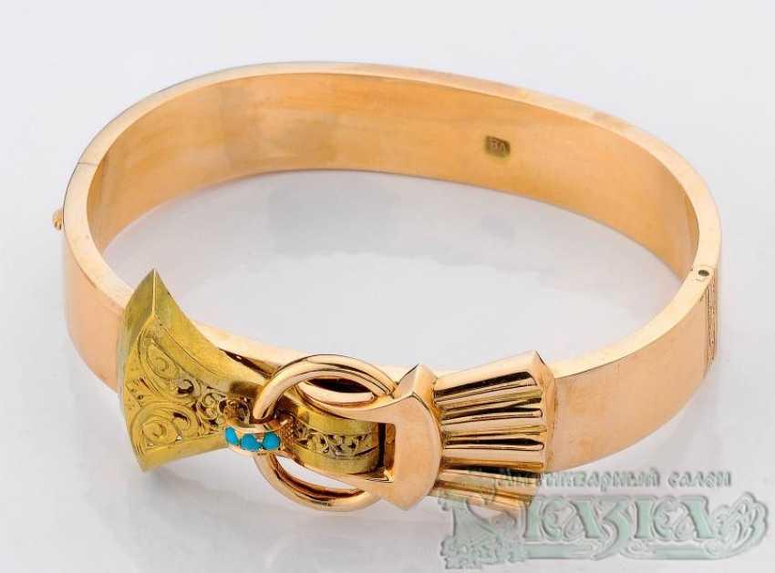 Bracelet with turquoise - photo 1