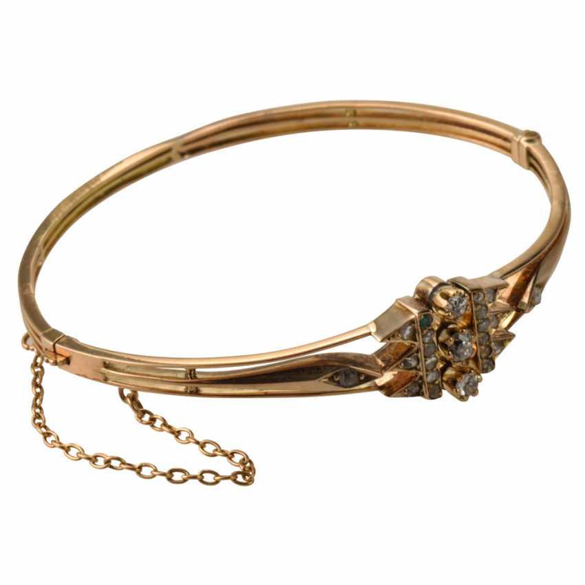 Rigid bracelet with diamonds - photo 1