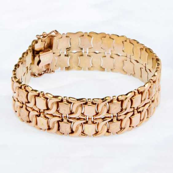 Wide gold bracelet with stars - photo 1