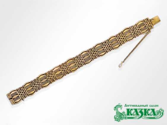 Wide gold mens bracelet - photo 1