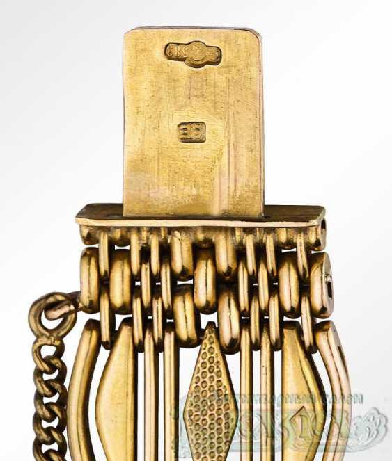 Wide gold mens bracelet - photo 2