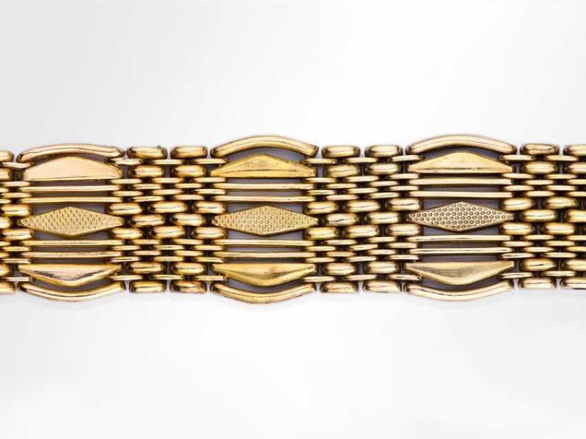Wide gold mens bracelet - photo 3