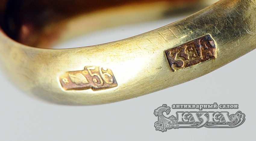 Ring with black enamel - photo 2