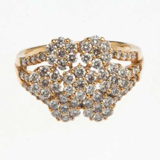 Ring with diamonds - photo 2