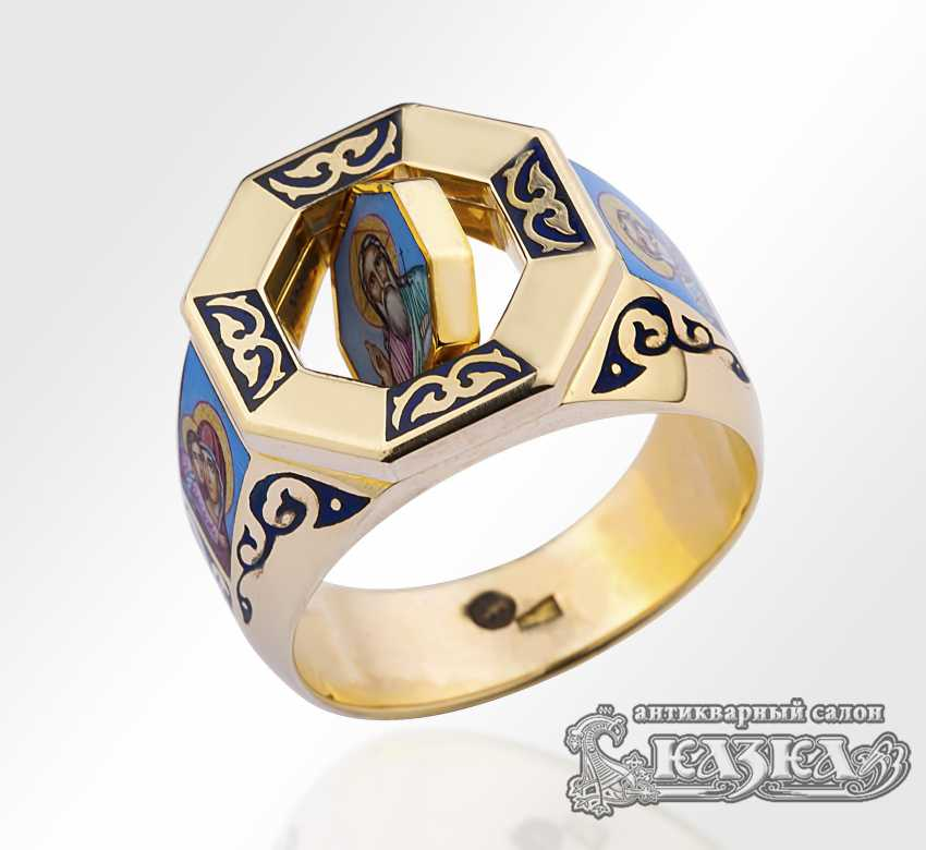 Ring mit Bemalte Emaille - Foto 1