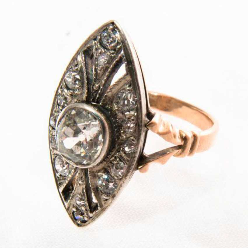 Ring Marquis diamond - photo 1