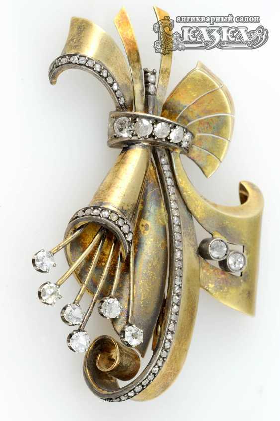 Brooch Bouquet diamond - photo 1