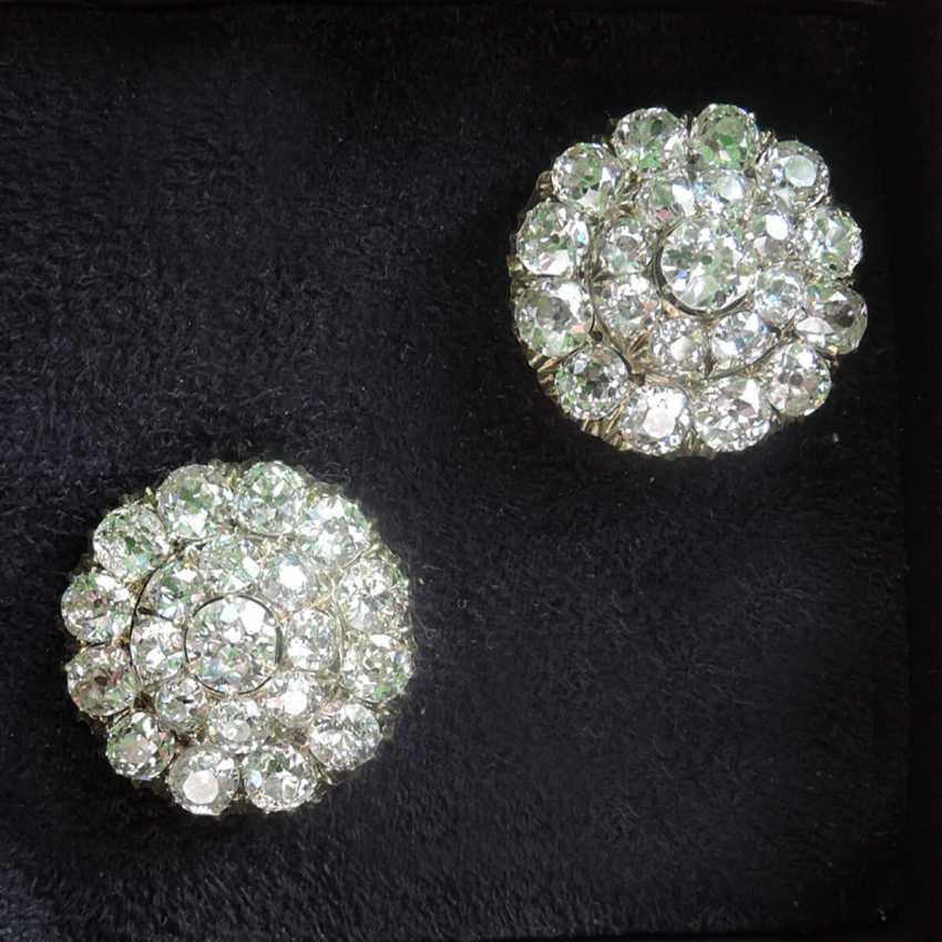 Серьги «малины» из золота с бриллиантами - фото 1