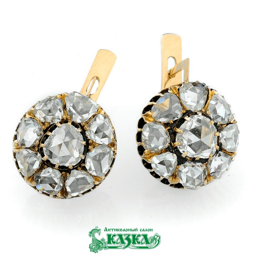 "Earrings ""raspberry"" from diamond rose-cut - photo 1"
