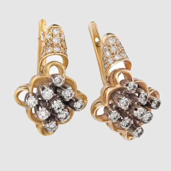 Boucles d'oreilles avec diamants - photo 1