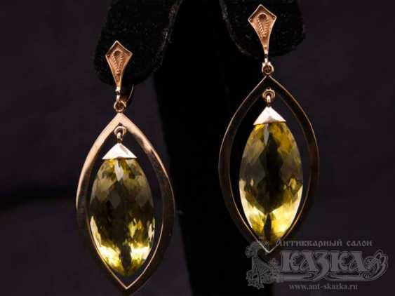 """Set the """"Ring and Earrings,"""" with natural citrines - photo 3"""