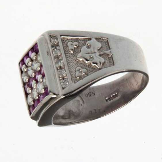 Ring with diamonds and sapphires - photo 1
