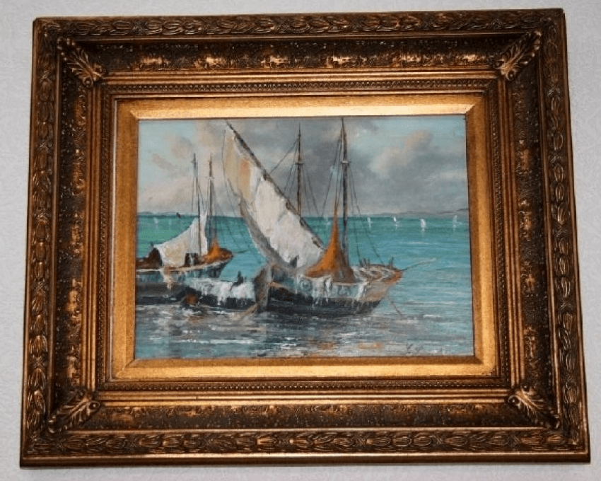 Antique painting G. Lapshin - photo 1